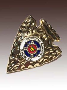 3D Lapel Pin for Cowichan Bowmen Archery Club