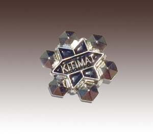 3D soft enamel lapel pin with silver plating