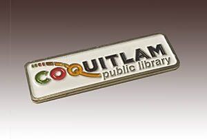 Die Stamped Soft Enamel Lapel Pin made for Coquitlam Public Library